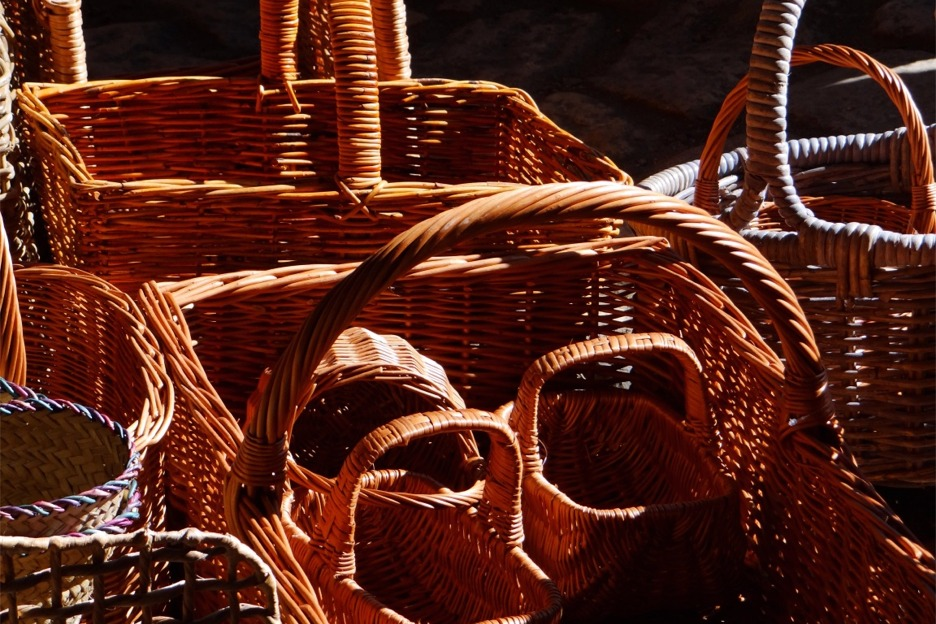 Scotland crafts baskets