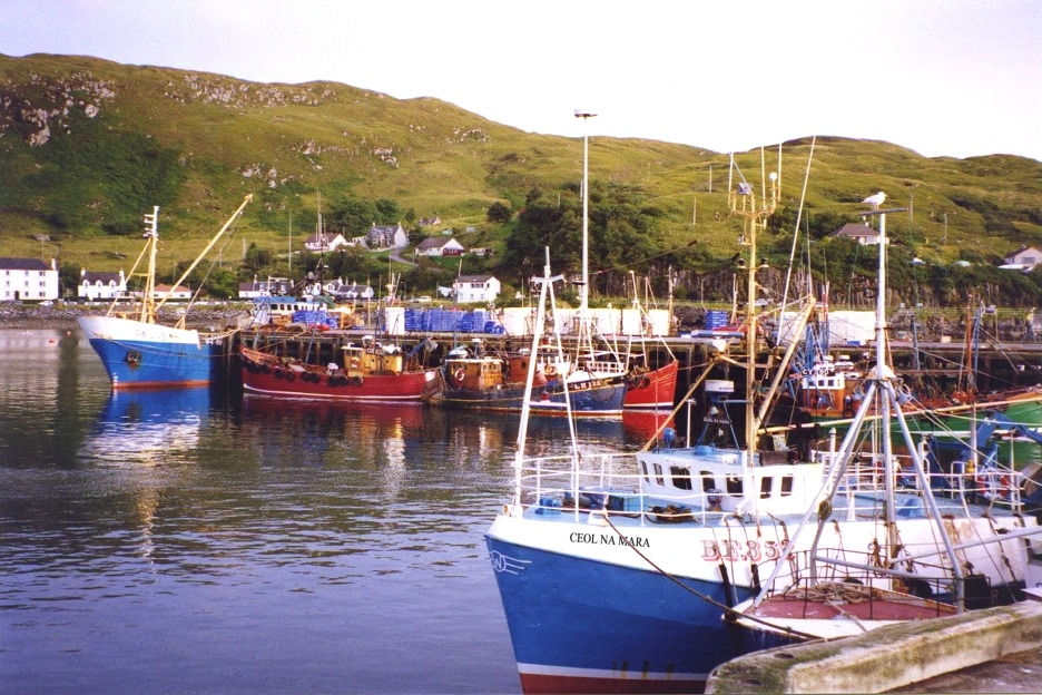 Fishing harbour, Scotland