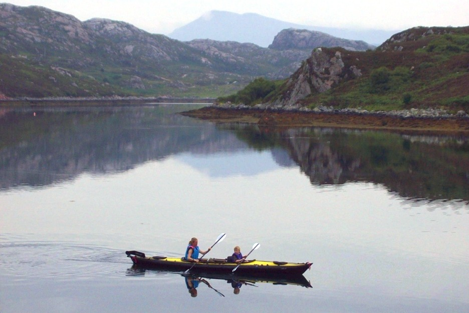 Double kayak in north-west Scotland