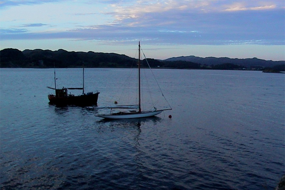Classic yacht at Crinan, Scotland