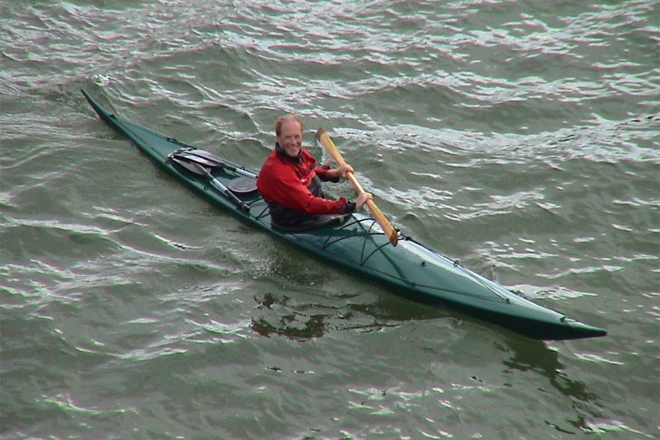 Nicholas and sea kayak