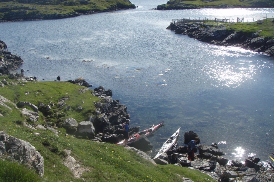 Sea kayaks in Hebrides
