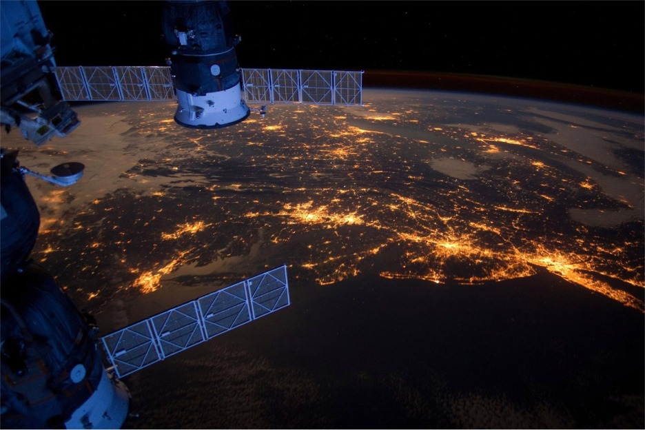 Satellite above eastern seaboard