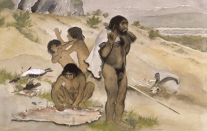 Maurice Wilson illustration of early man