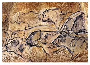 Lion cave paintings from Chauvet