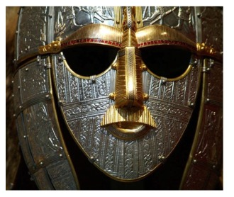 Replica of Saxon helmet from Sutton Hoo