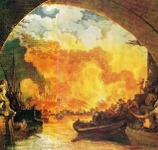 Painting of the Great Fire of London